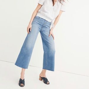 Wide-Leg Crop Jeans: Button-Front Edition